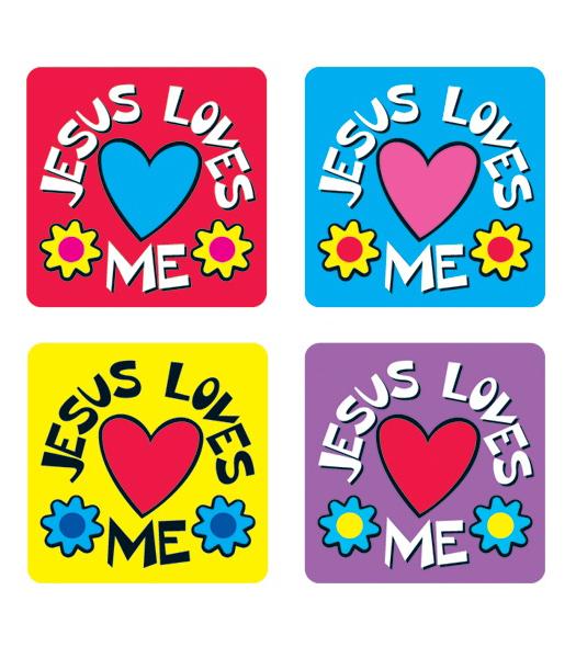 525x600 Jesus Loves Me Sticker Pack Grade Pk 8 Carson Dellosa Publishing