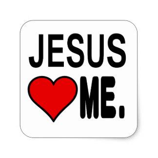 324x324 Christian Jesus Loves Me Stickers Zazzle