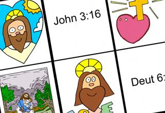 321x221 Free Game Printables Jesus Loves Me Bible Bingo