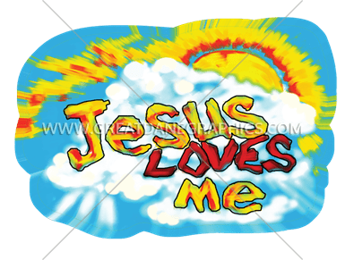 385x291 Jesus Loves Me Production Ready Artwork For T Shirt Printing
