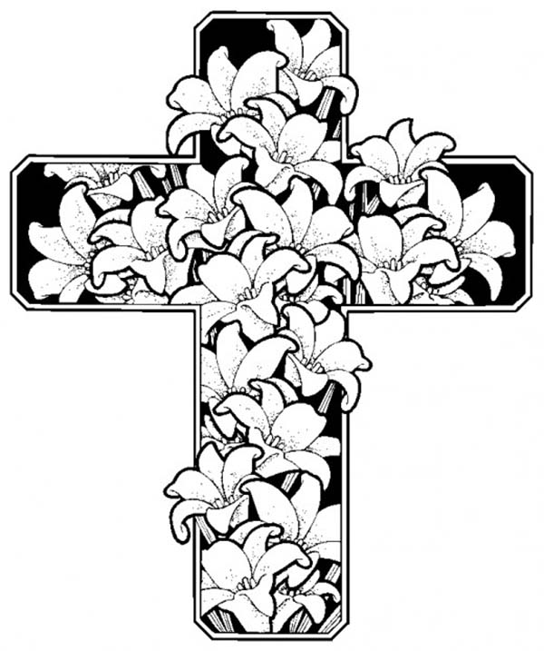 600x717 Other Cross Coloring Pages Jesus Loves Me Cross Coloring Pages