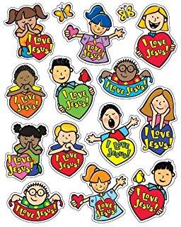 256x320 Jesus Loves Me! Sticker Pack Carson Dellosa