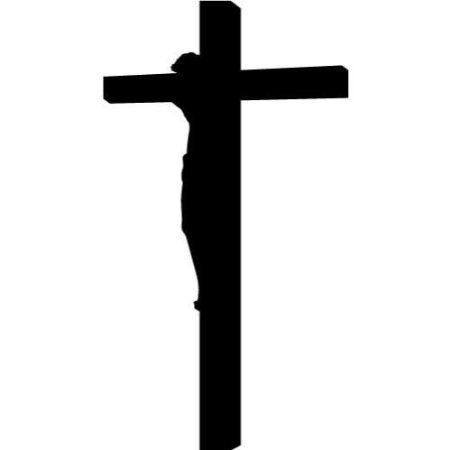 450x450 Buy Jesus Christ Hanging On A Cross Vinyl Wall Art , Vinyl