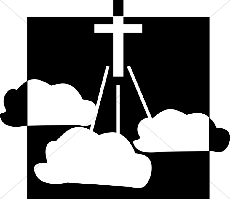 776x671 Christian Cross Clipart Ascension Day Clipart