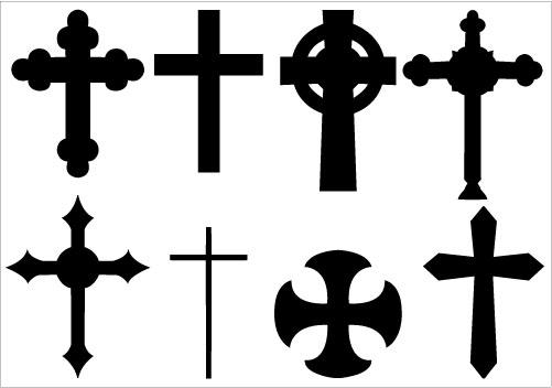 501x352 On The Cross Clipart Siloette