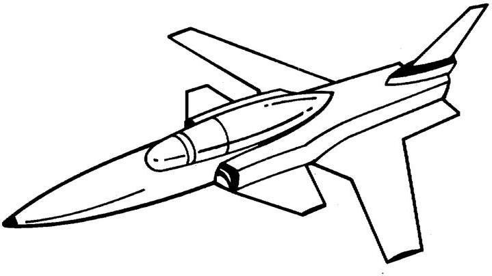 719x404 Jet Clipart Coloring