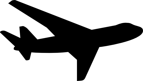 600x340 Jet Clipart Silhouette