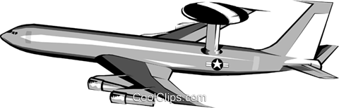 480x154 Awacs Jet Royalty Free Vector Clip Art Illustration Mili0032