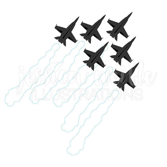 570x570 Jets In Formation Silhouette Digital Clipart Military Clip