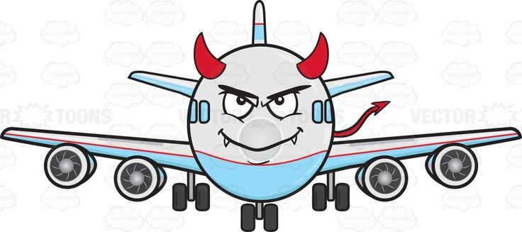 736x327 Jumbo Jet Plane Smiling With Fangs Horns And Tail Emoji Jet Plane