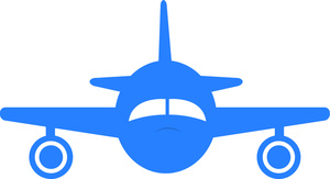 300x163 Airplane Clipart Image