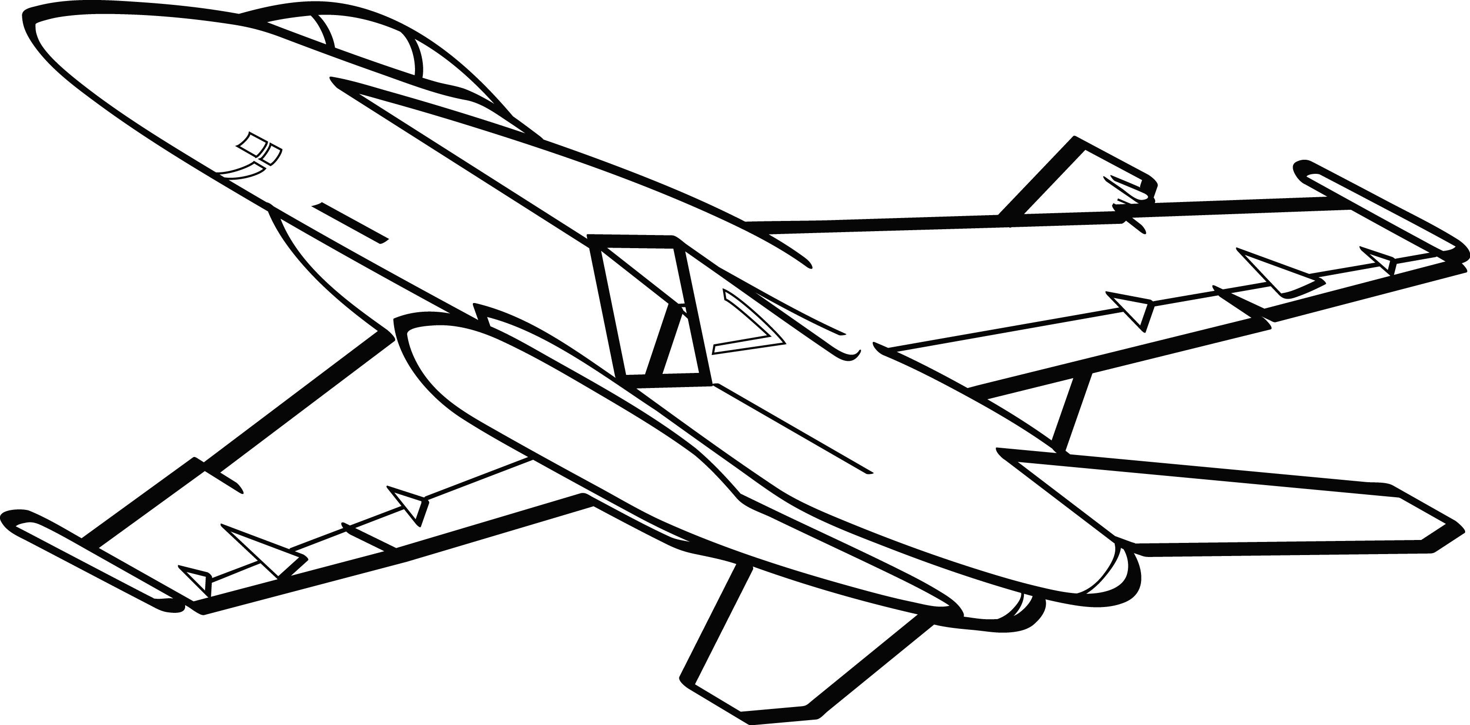 3025x1493 Black And White Jets Clipart