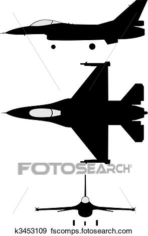 295x470 Clip Art Of F16 K3453109