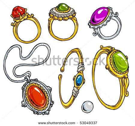 450x422 Jewelry Clipart Cartoon