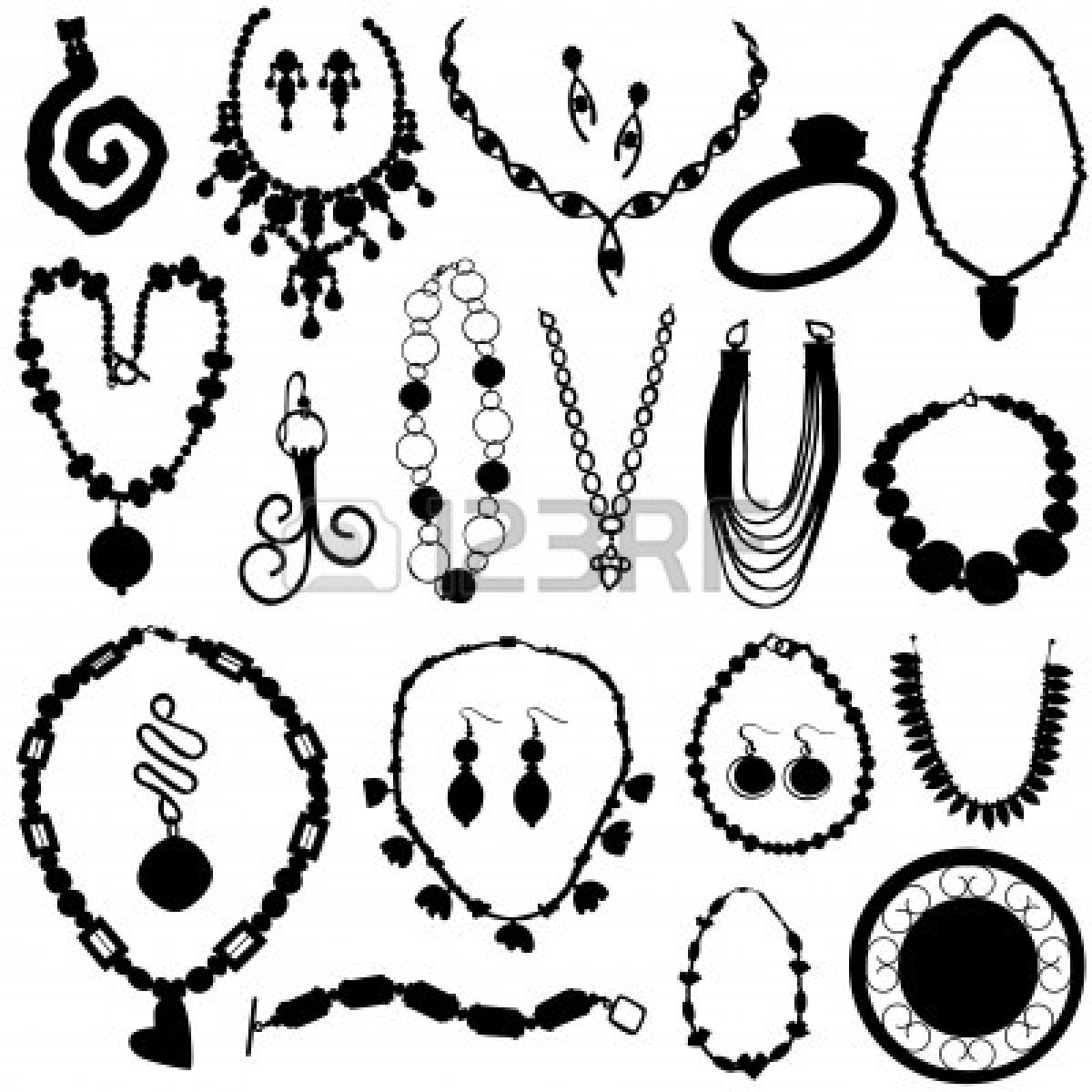 1200x1200 Jewelry Clipart Silhouette