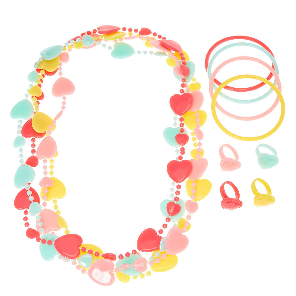1000x1000 Kids Pastel Hearts Jewellery Sets Claire'S