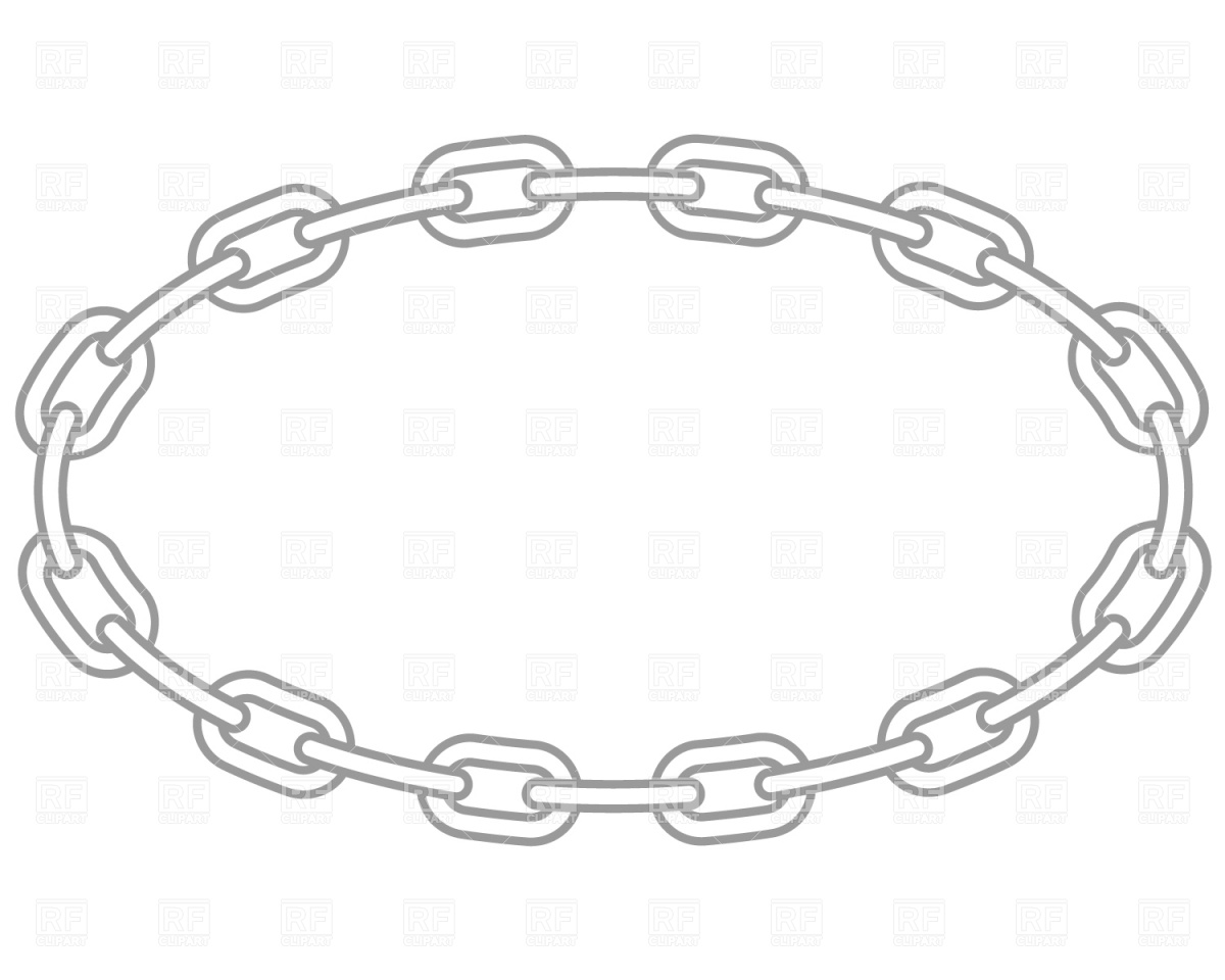 1200x960 Oval Chain Frame Royalty Free Vector Clip Art Image