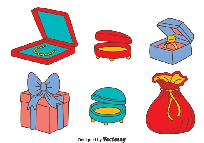 700x490 Jewelry Box Vector Set