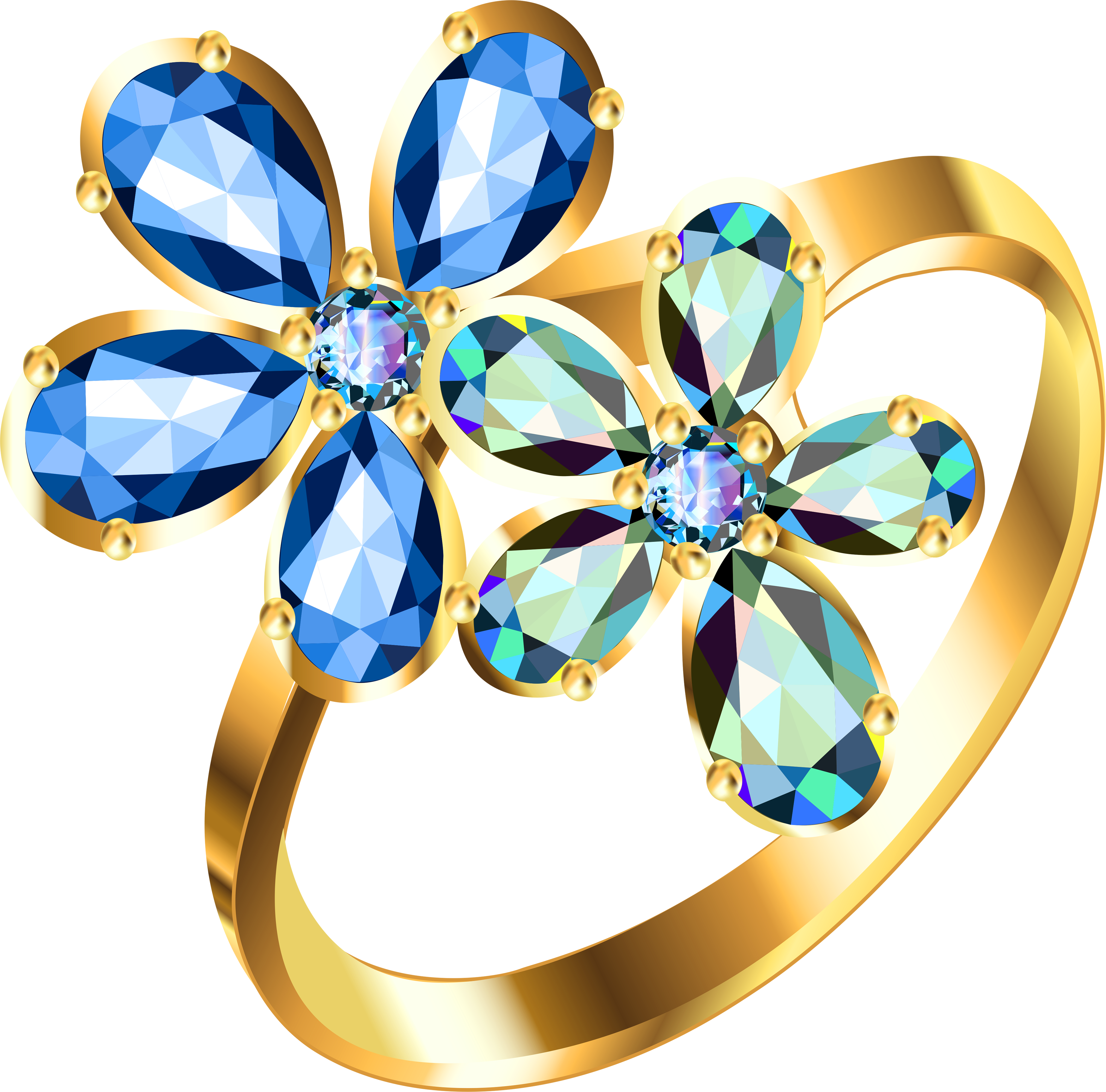 3500x3456 Jewelry Clipart Golden Ring