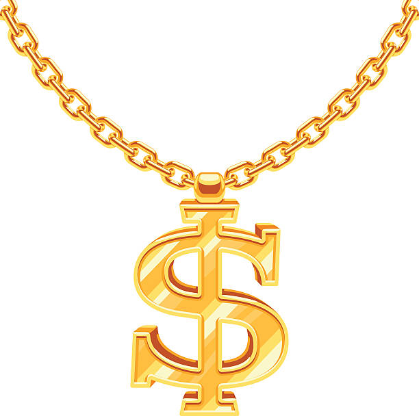 612x608 Necklace Clipart Dollar Sign