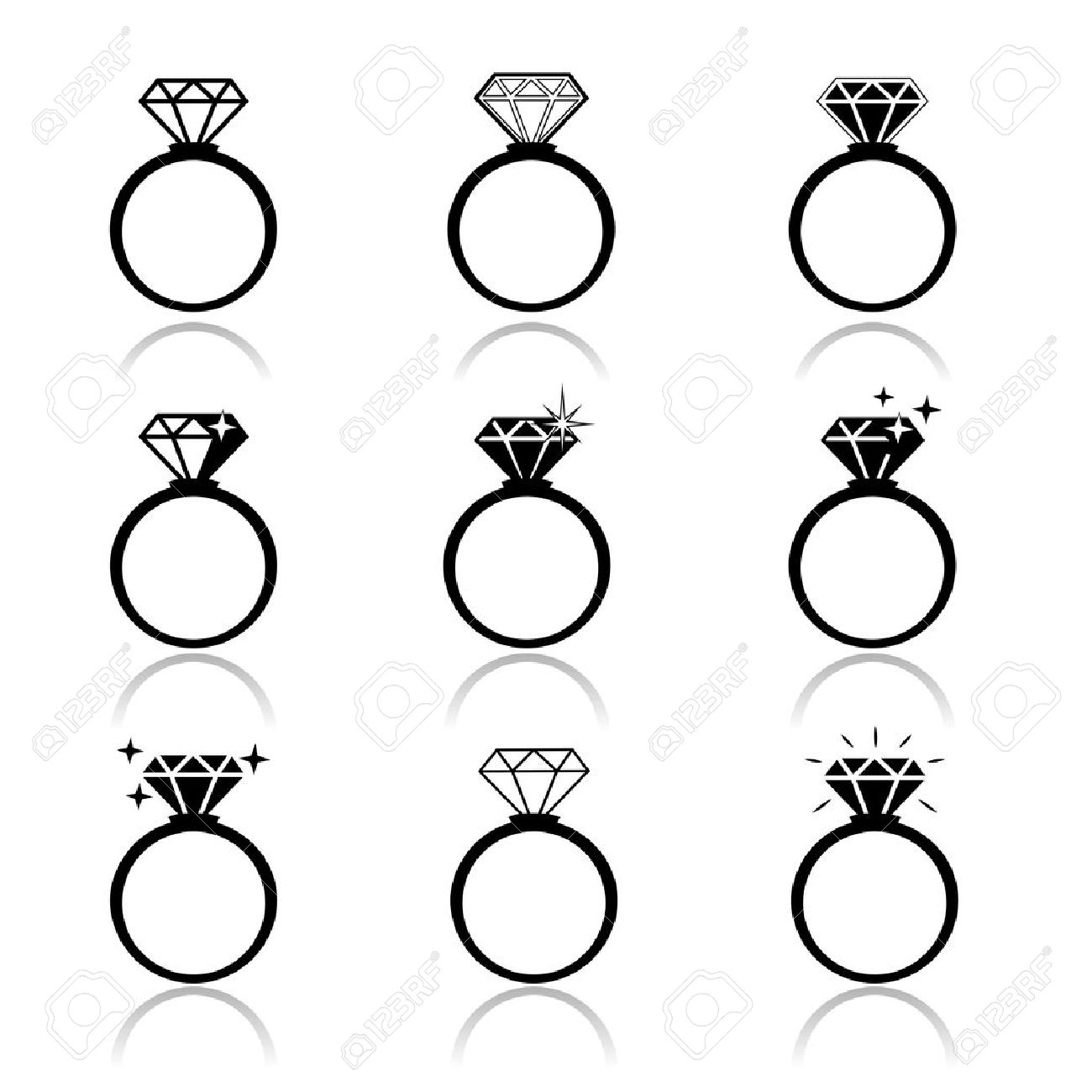 1300x1300 Wedding Rings Vector Icon Wedding Invitation Jewelry Royalty Free