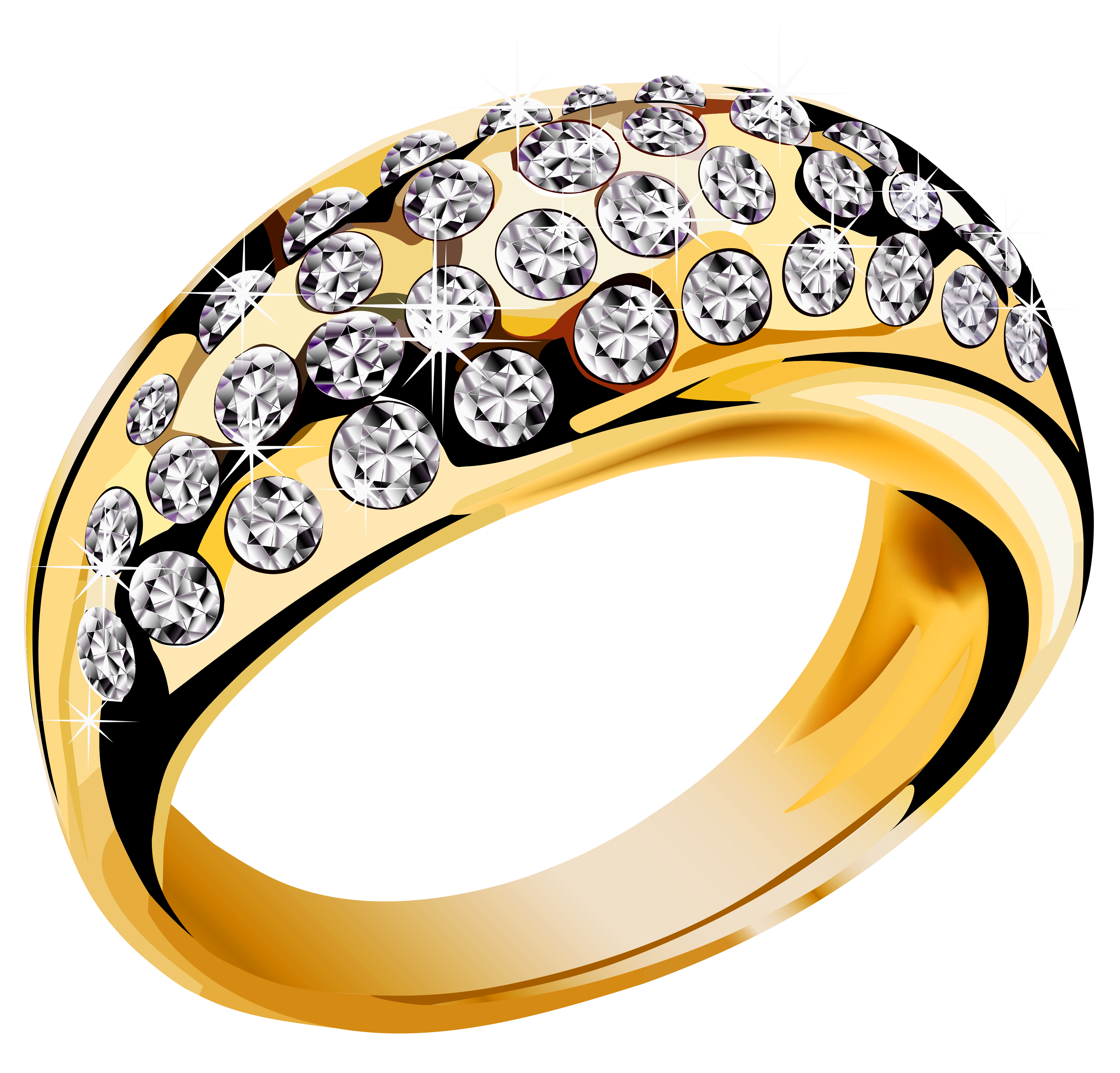 3269x3132 Gold Ring With White Diamonds Png Clipartu200b Gallery Yopriceville
