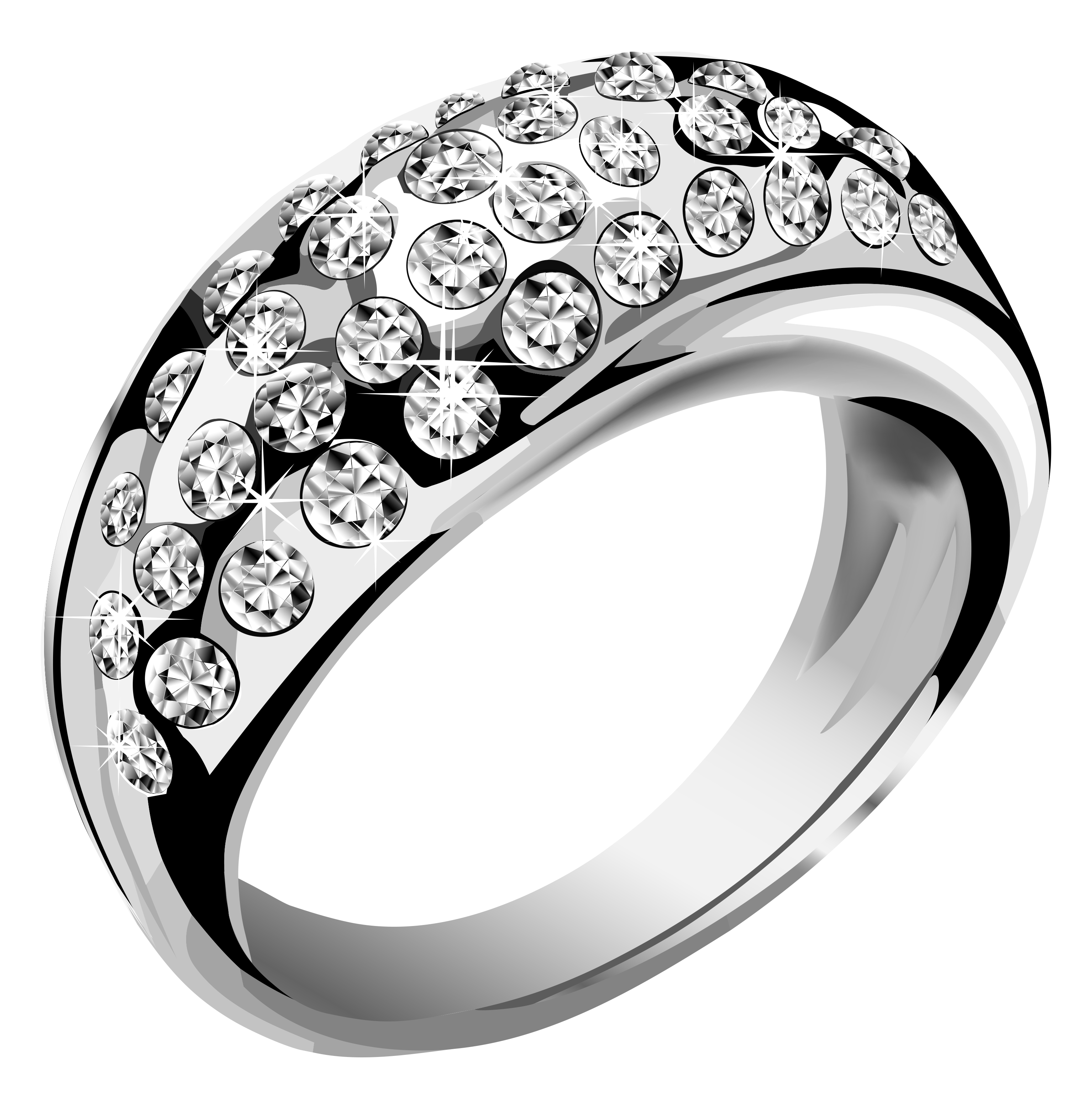 3068x3074 Silver Ring With White Diamonds Png Clipartu200b Gallery
