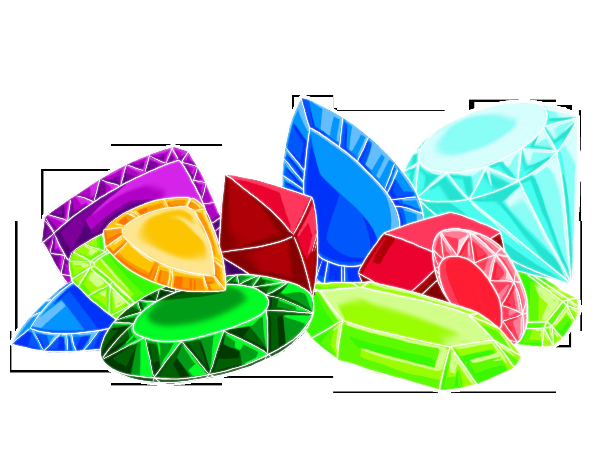 2000x1545 Gems Clipart Pile Jewel