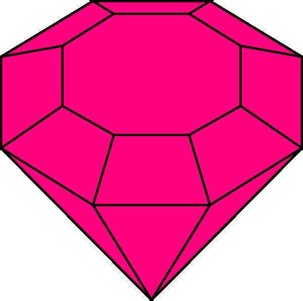 600x597 Pink Gem 2 Clip Art