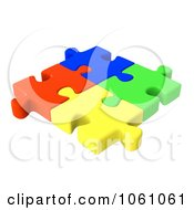175x190 Royalty Free CGI Clip Art Illustration Of 3d Connected Colorful