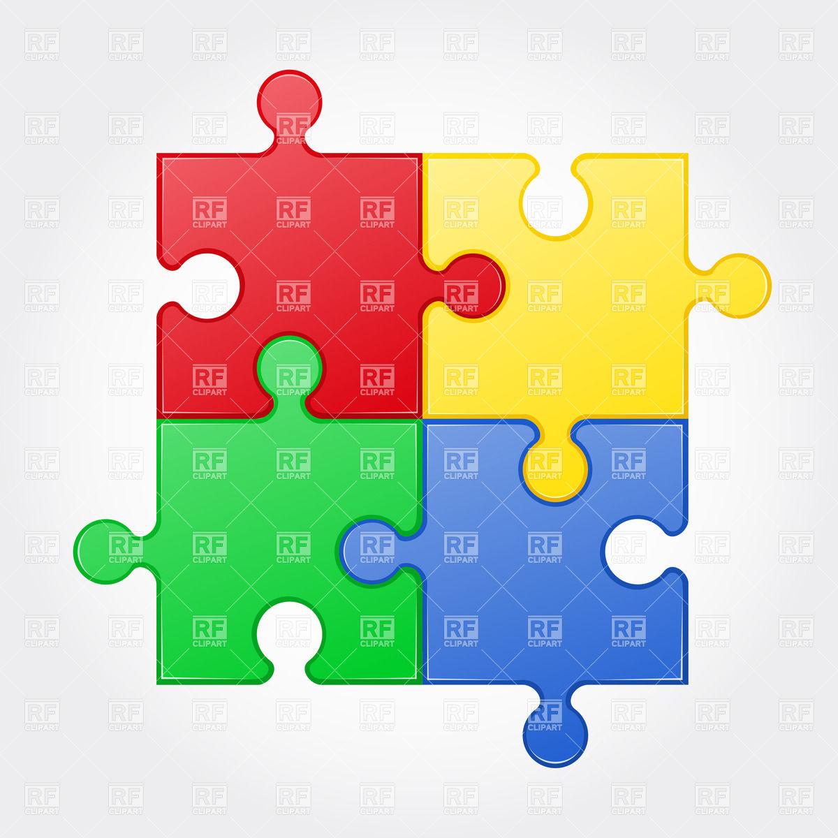 1200x1200 Colour Square Jigsaw Puzzle Elements Royalty Free Vector Clip Art