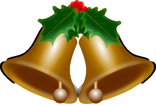 600x406 Christmas Bells Clip Art