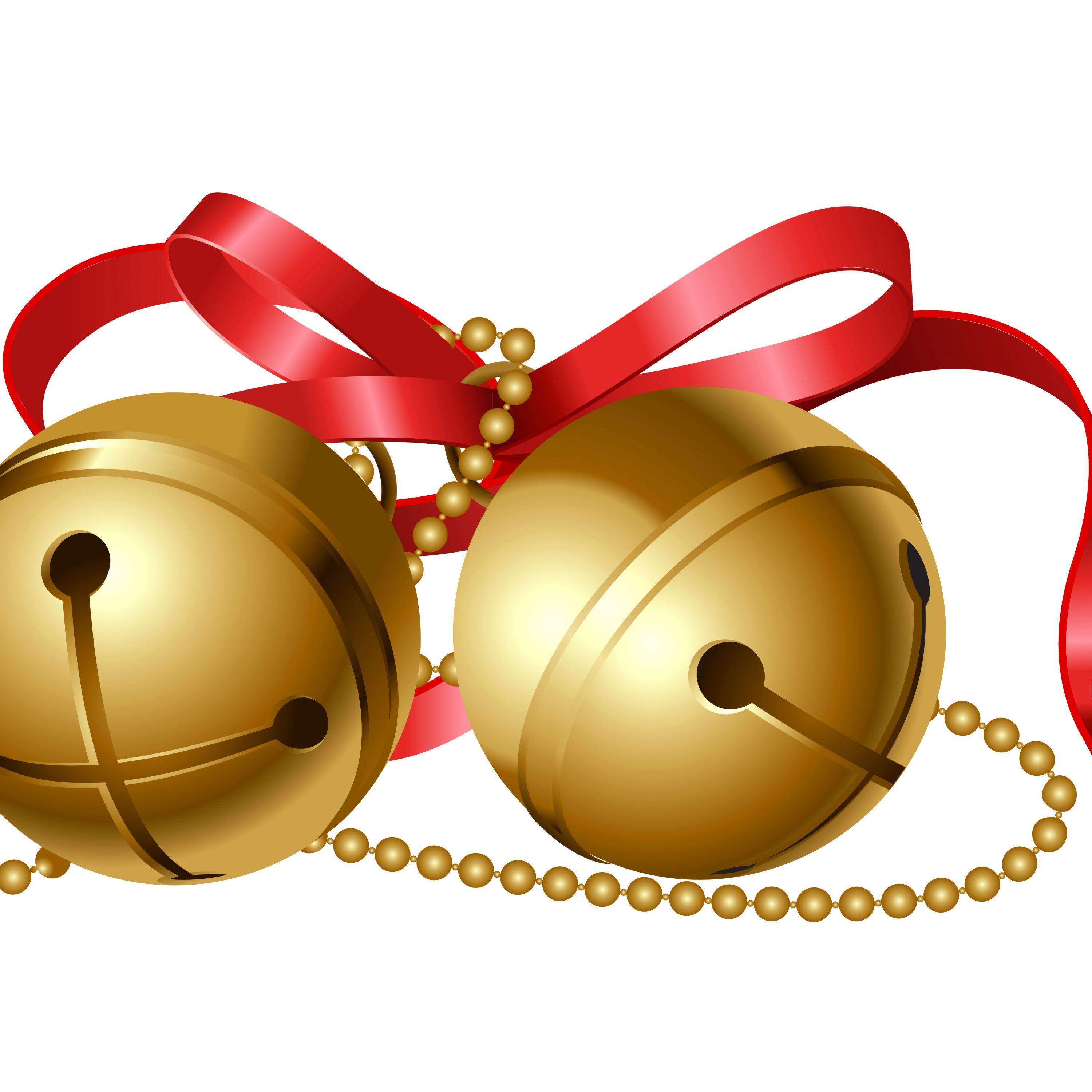 3000x3000 Necklace Clipart Jingle Bell