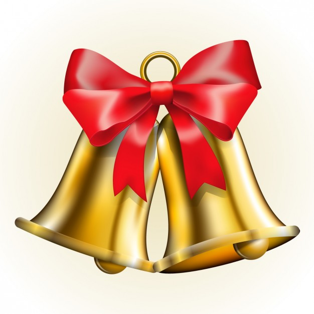 626x626 Jingle Bells With Red Loop Vector Free Download