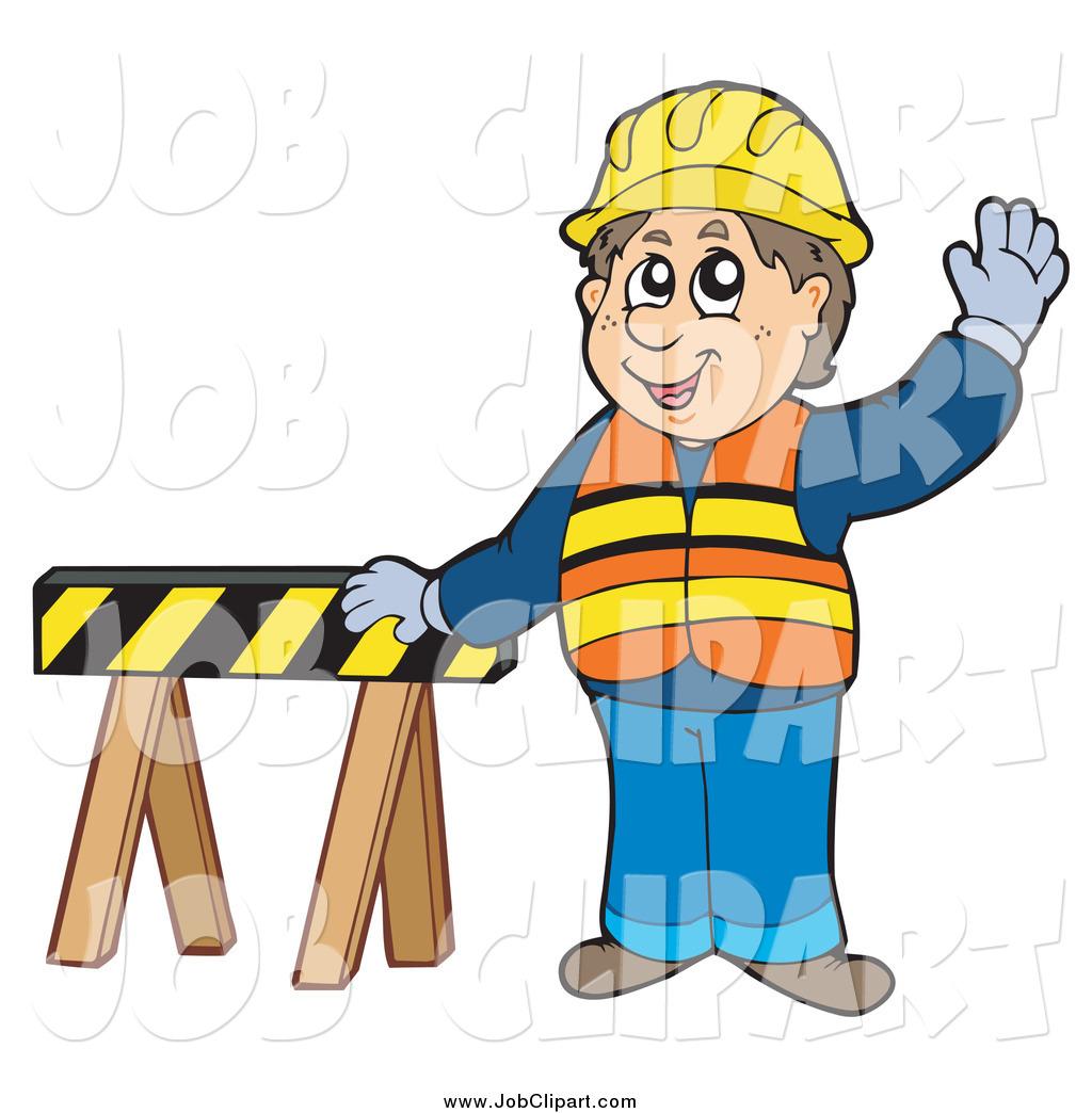 1024x1044 Job Clip Art Of A Caucasian Male Construction Worker Waving