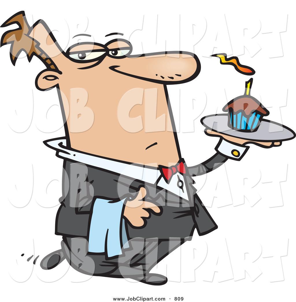 1024x1044 Job Cliprt Ofn Unhappy Male Butler Carrying Cupcake