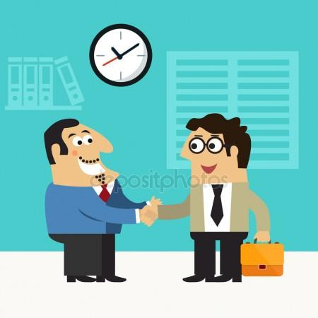 450x450 Happy Job Interview Stock Vectors, Royalty Free Happy Job