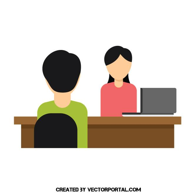 660x660 Job Interview Vector Graphics