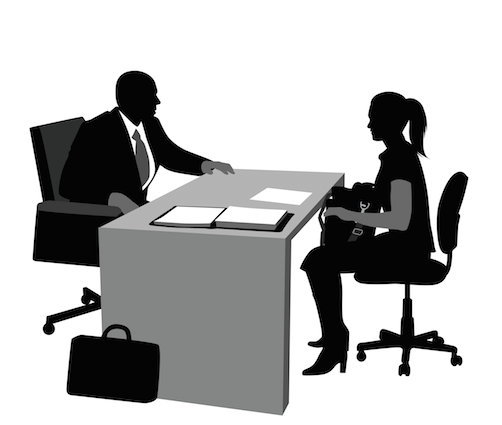 502x425 Job Interview Clipart Black And White