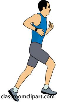 195x350 Man Jogging Clipart