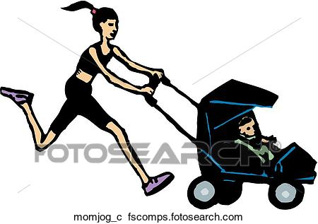 450x317 Mom Jogging Clip Art Vector Graphics. 25 Mom Jogging Eps Clipart