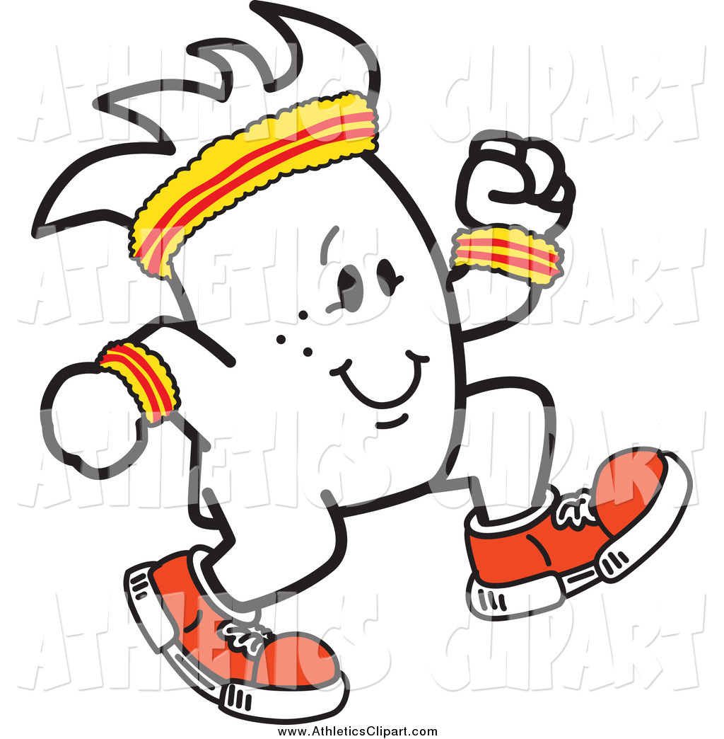 1024x1044 Clip Art Of A Cheerful Squiggle Guy Jogging By Toons4biz