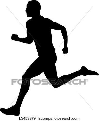 384x470 Clipart Of Splashy Runner K9436980
