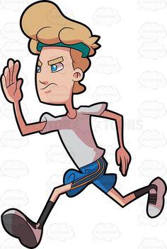 236x351 A Man Focused On Jogging