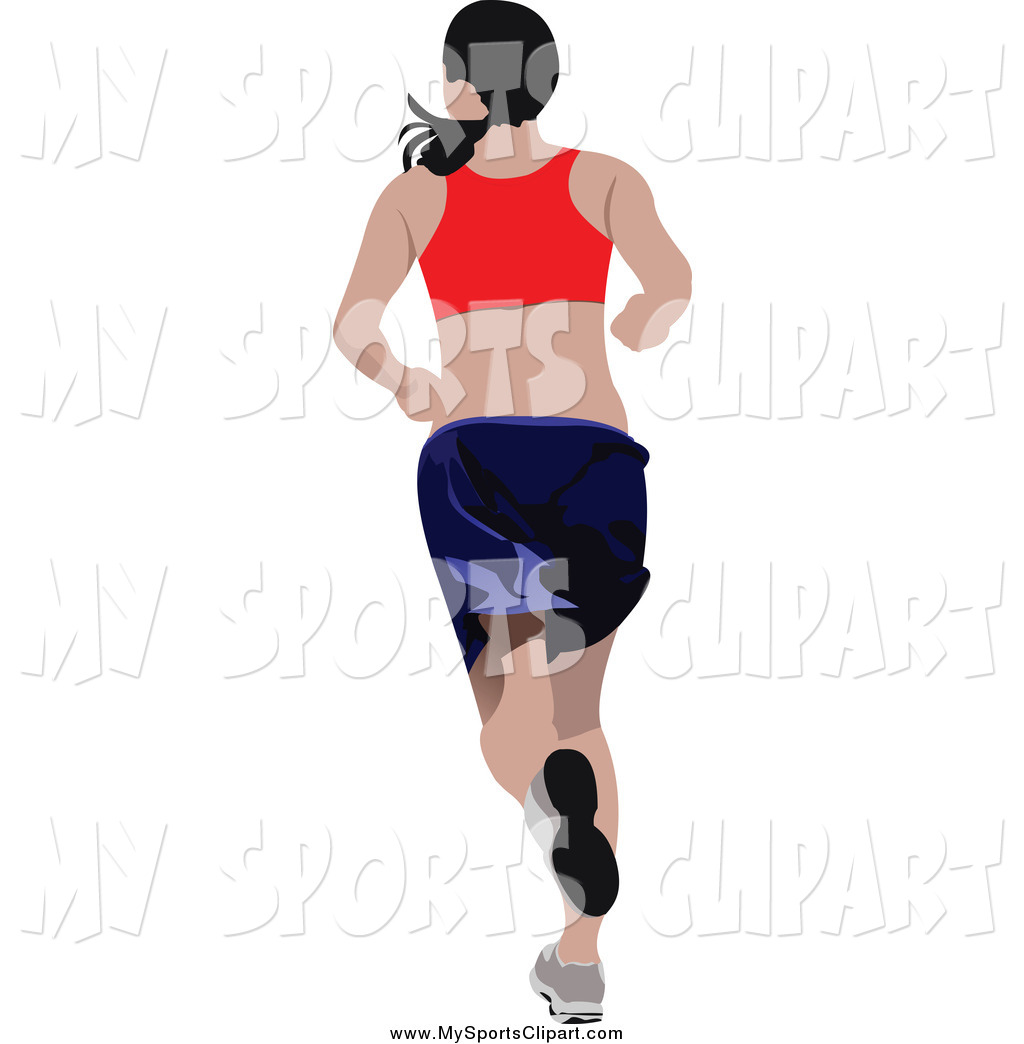 1024x1044 Sports Clip Art Of A Rear View Of A Running White Woman By Leonid
