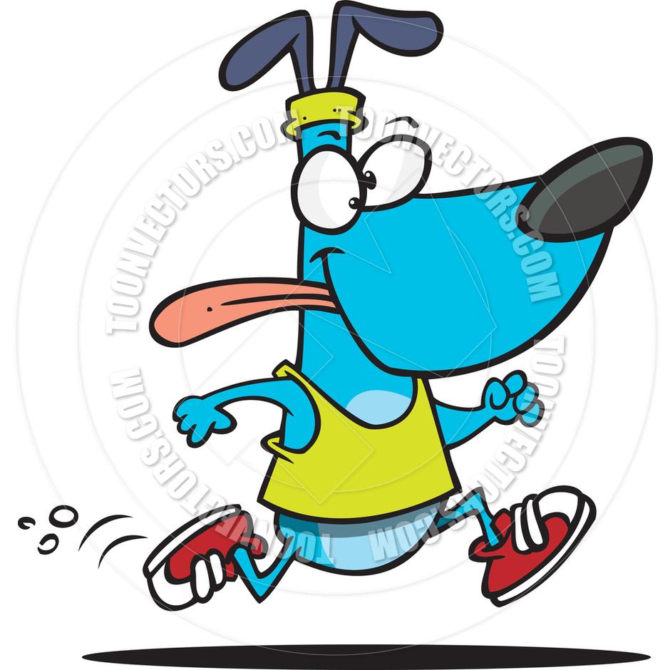 940x940 Cartoon Dog Jogger By Ron Leishman Toon Vectors Eps