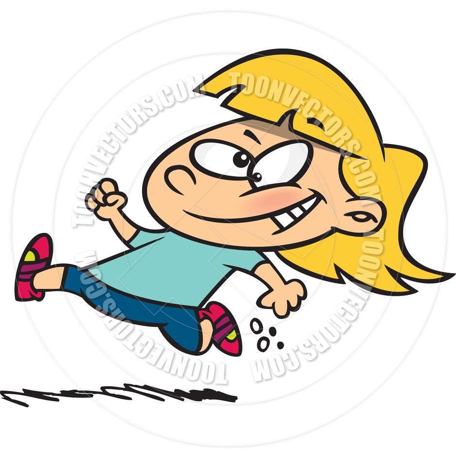 940x940 Cartoon Girl Jogger By Ron Leishman Toon Vectors Eps
