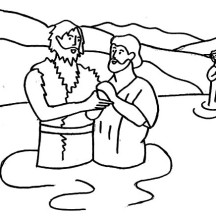 855x819 Baptism Coloring Pages Of Jesus Page 216x216 Bible Stories NetArt