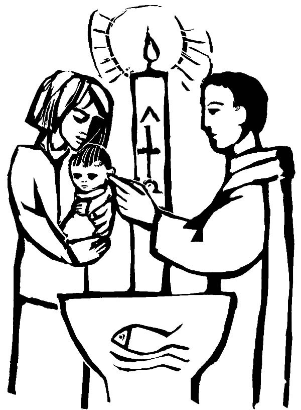 600x816 Christian Baby Baptism Coloring Pages Best Place To Color