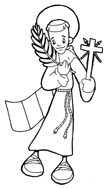344x600 145 Best Saint Coloring Pages Images Catholic Kids